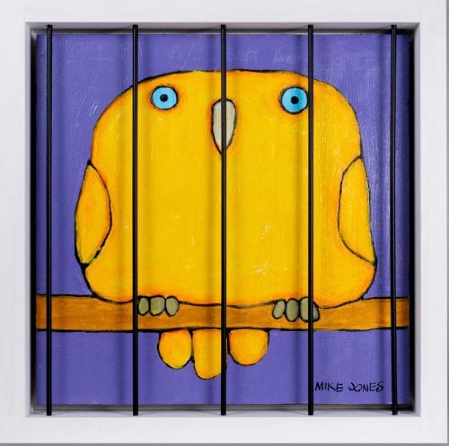 , Caged Yellow Bird, Manly Harbour Gallery