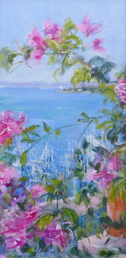 , Through the Bougainvillea, Manly Harbour Gallery