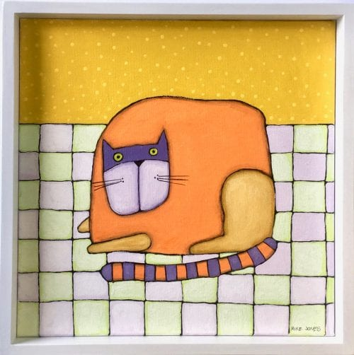 , Cat on Quilt, Manly Harbour Gallery