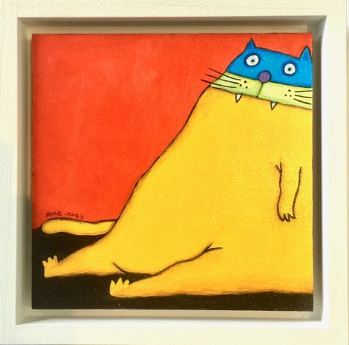 , Yellow Cat on Red Wall, Manly Harbour Gallery