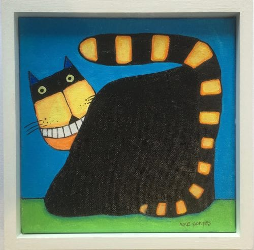 , Smiling Cat on Blue, Manly Harbour Gallery