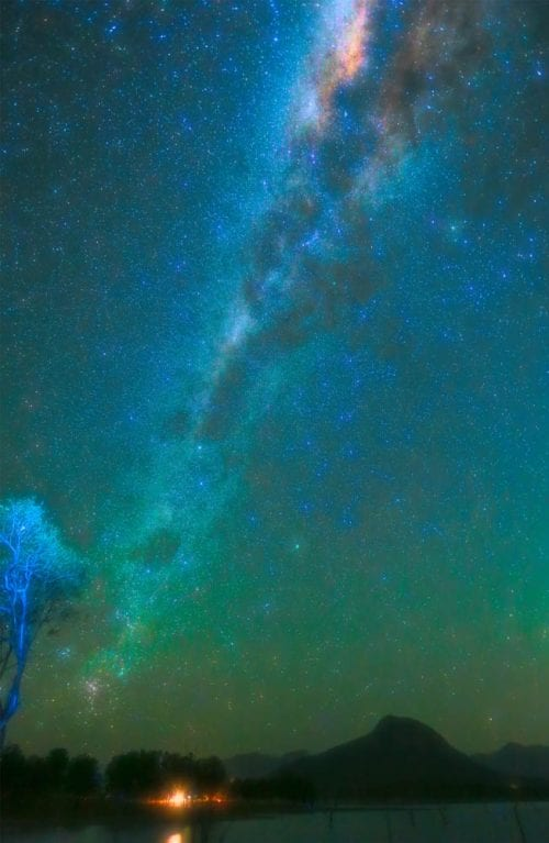 , Milky Way over Moogerah, Manly Harbour Gallery