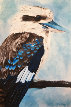 Kookaburra Blues by Jess King at Manly Harbour Gallery