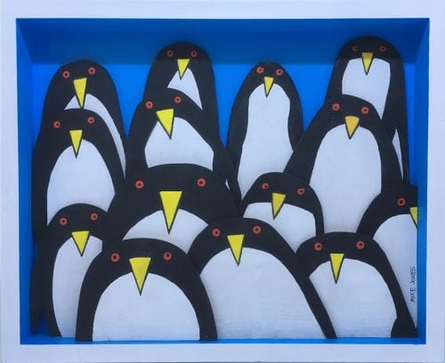 , Red Eyed Penguins, Manly Harbour Gallery