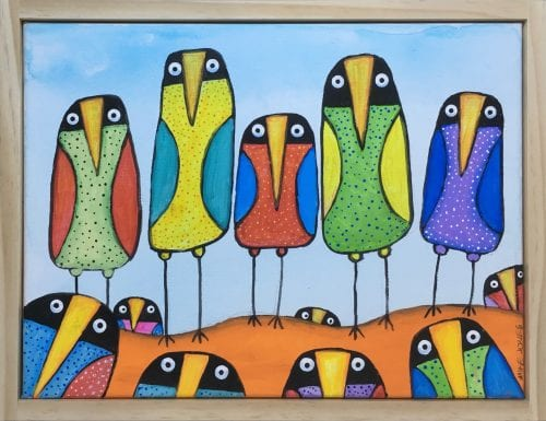 , Birds in a Row, Manly Harbour Gallery