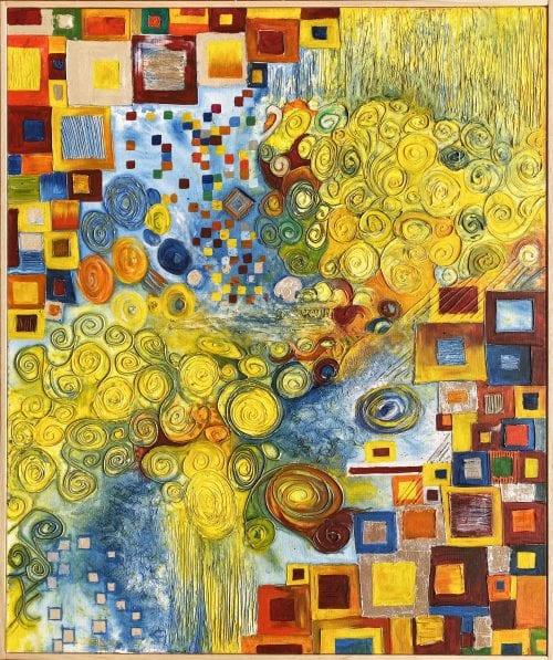Jess King abstract A Little Klimtish