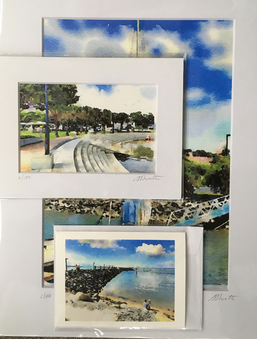 Art prints, original prints, matt frames for sale at Manly Harbour Gallery
