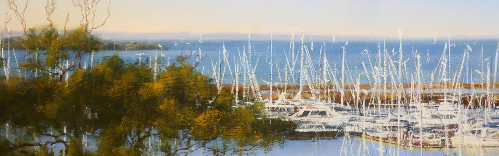 Robyn Gaudion's Soft Winter Blues, Manly Marina Painting