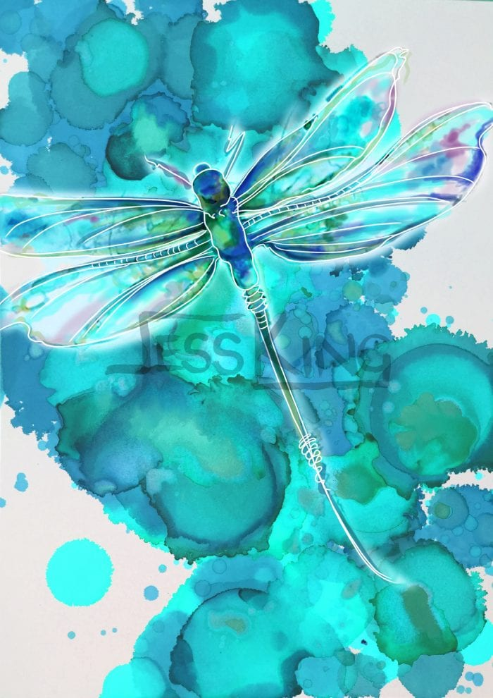 Dragonfly Blue 2 by Jess King Limited edition Print