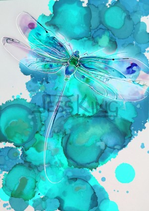 Dragonfly Blue by Jess King