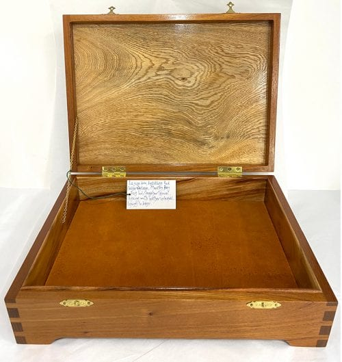 Timber box for sale at Manly Harbour Gallery