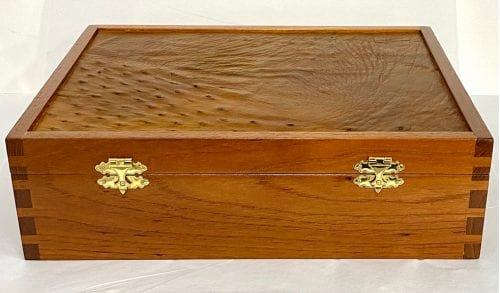 Neville Wostear timber box at Manly Harbour Gallery