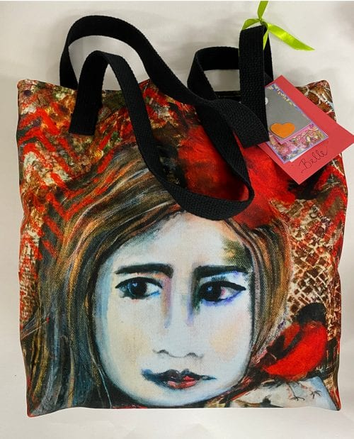 Medium Art Tote Bag by Amanda Slater