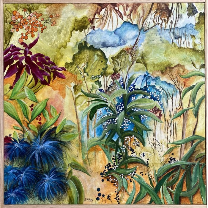 Aussie Bush 2 by Jess King at Manly Harbour Gallery