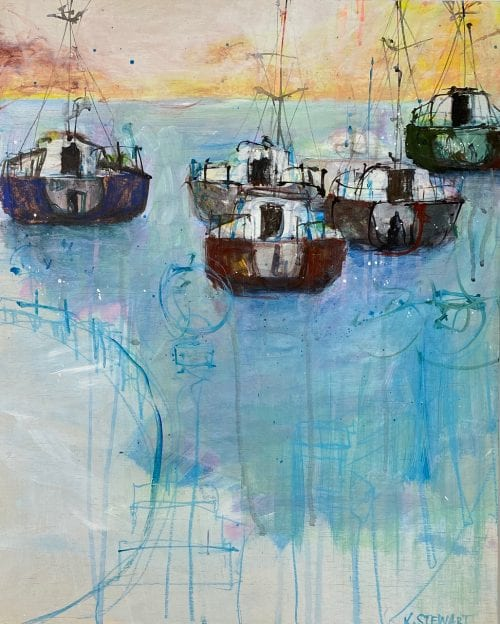 , Boats on Rose Bay NSW, Manly Harbour Gallery