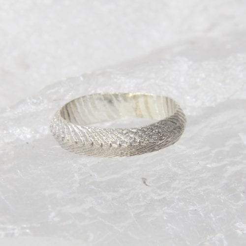 Cuttlebone cast ring for sale at Manly Harbour Gallery