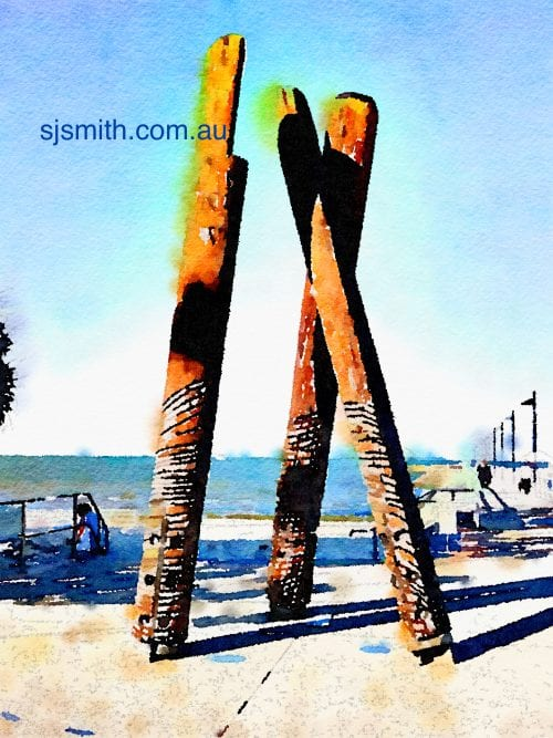 Wynnum Totems in the sun