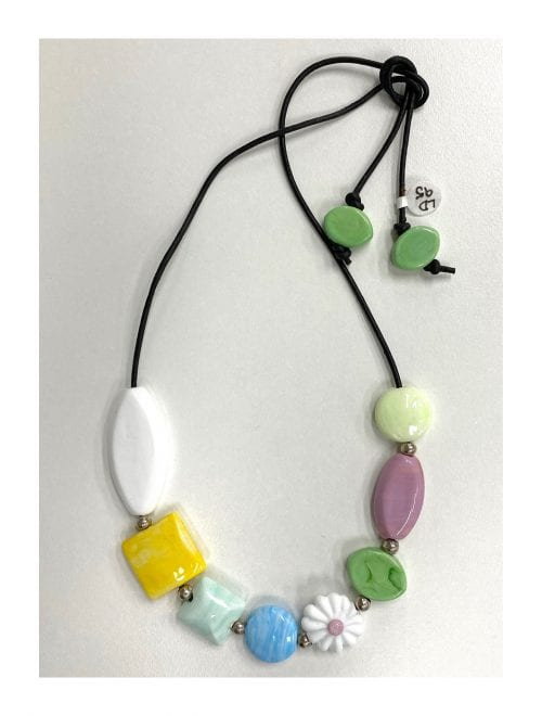 handmade glass bead necklace by Liz DeLuca