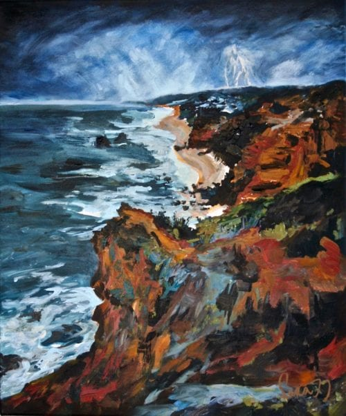 , Storm Over Lorne, Manly Harbour Gallery