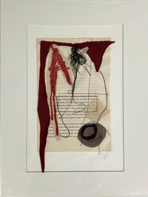 Kate Bray Turn the Page Series ( RED), mixed media $45, 30x40 outside 20x30 inside C