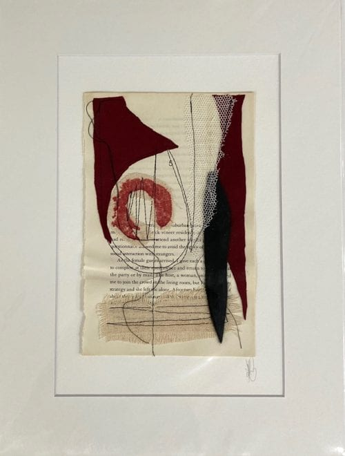 Kate Bray Turn the Page Series ( RED), mixed media $45, 30x40 outside 20x30 inside D