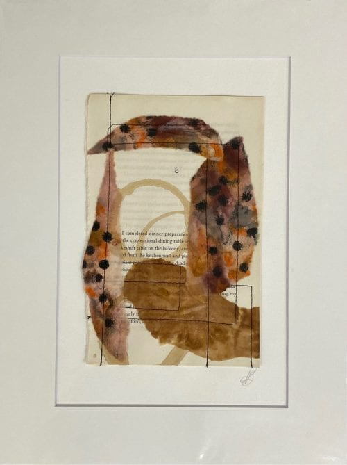 Kate Bray Turn the Page Series, mixed media $45, 30x40 outside 20x30 inside