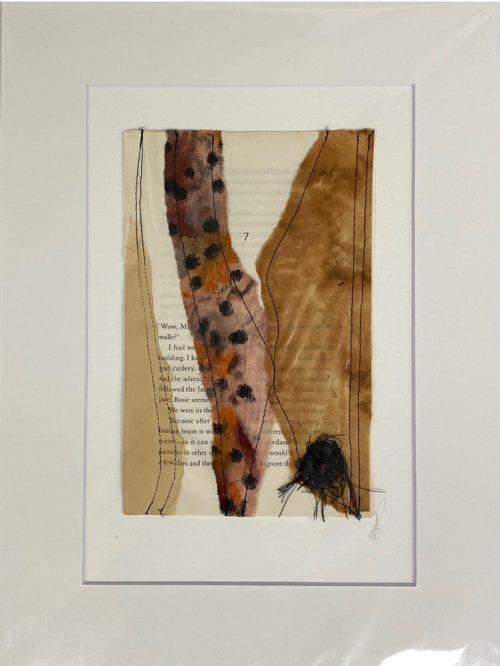 Kate Bray Turn the Page Series, mixed media $45, 30x40 outside 20x30 inside C