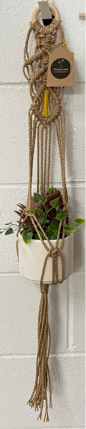 Winifred and Wulfe Plant Hanger $45 80cm long Yellow