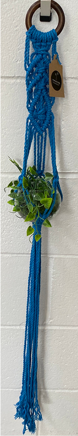 Winifred and Wulfe plant Hanger $35 100cm long Blue