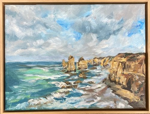 Great Ocean Road 43cm x 33cm with frame $650