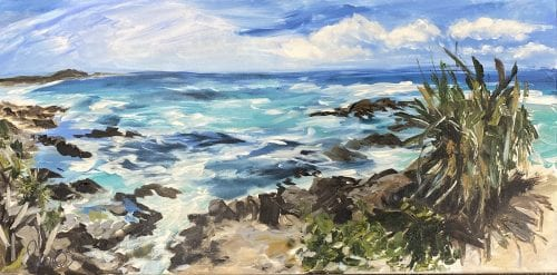Hastings Point Lookout by Sara Turnbull Turia 61cm x 30cm $590