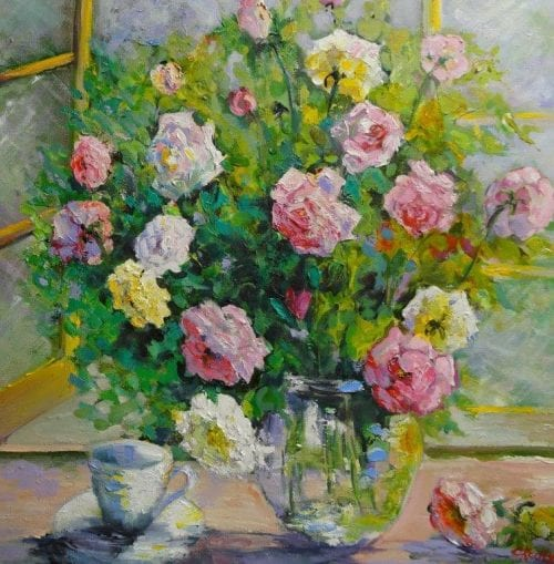 , Roses on Kitchen Sill, Manly Harbour Gallery