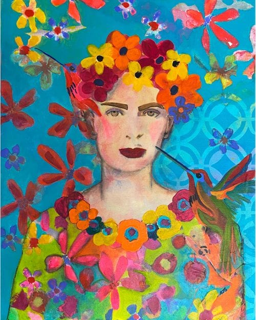 Frida by Amanda Slater 51 x 41 mixed media $400
