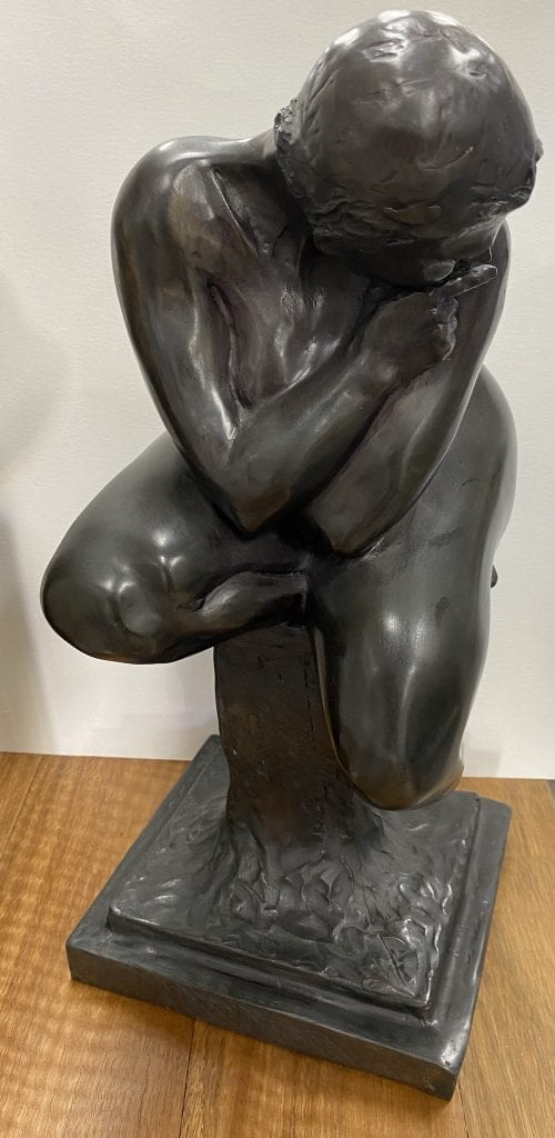 Secret bronze sculpture by Zigmunt Libucha