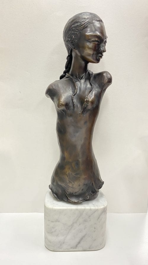 Chloe Bronze and Marble sculpture by Zigmunt Libucha