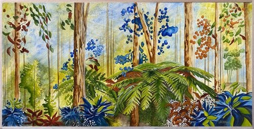 Australian Forest by Jess King at Manly Harbour Gallery, Brisbane art gallery