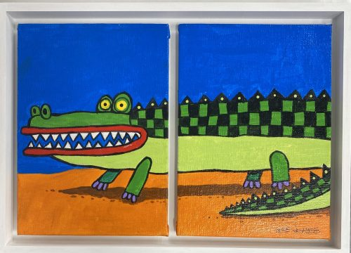 , Croc Diptych, Manly Harbour Gallery