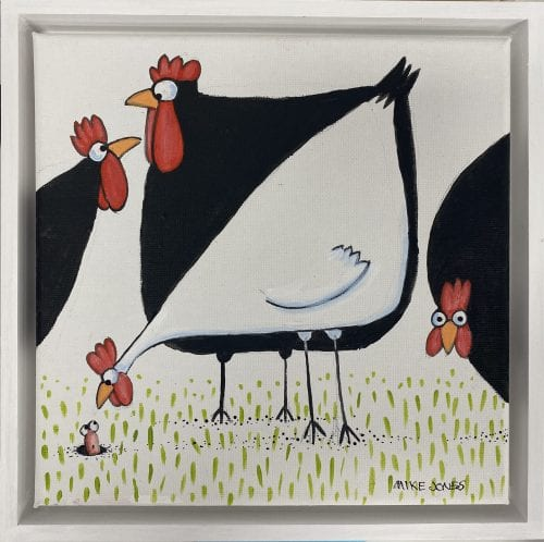 , Black and White Chooks, Manly Harbour Gallery