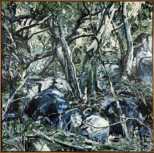 , Blue and Green Girraween, Manly Harbour Gallery
