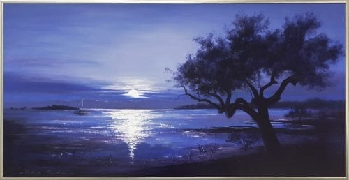, Moonrise From Darling Point, Manly Harbour Gallery