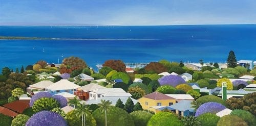 Wynnum ( Wynnum Manly Trailer Boat Club)from Above. Commission