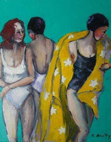 , Beach Figures A, Manly Harbour Gallery