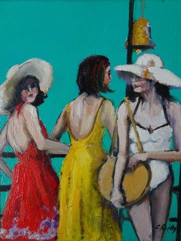 , Beach Figures B, Manly Harbour Gallery