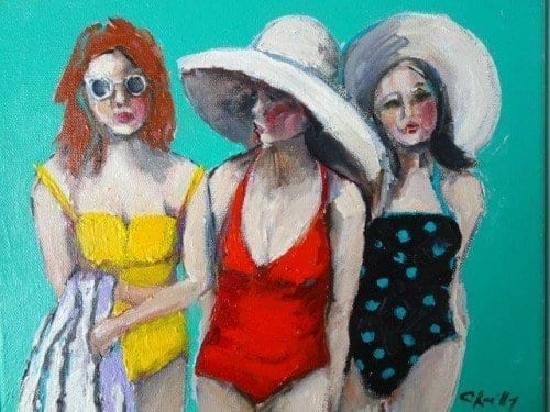 , Beach Figures C, Manly Harbour Gallery