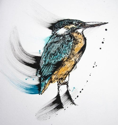 , The Blue Sparkle on the Creek Bed (Kingfisher), Manly Harbour Gallery