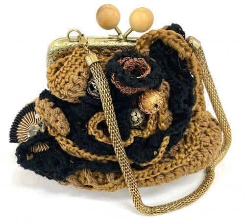 Capaly Creations Crochet bag $65