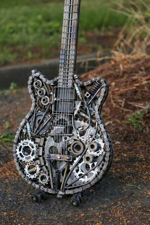 Metal Guitar Sculptures