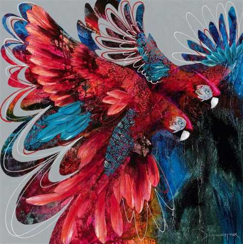, Ruby Macaws, Manly Harbour Gallery